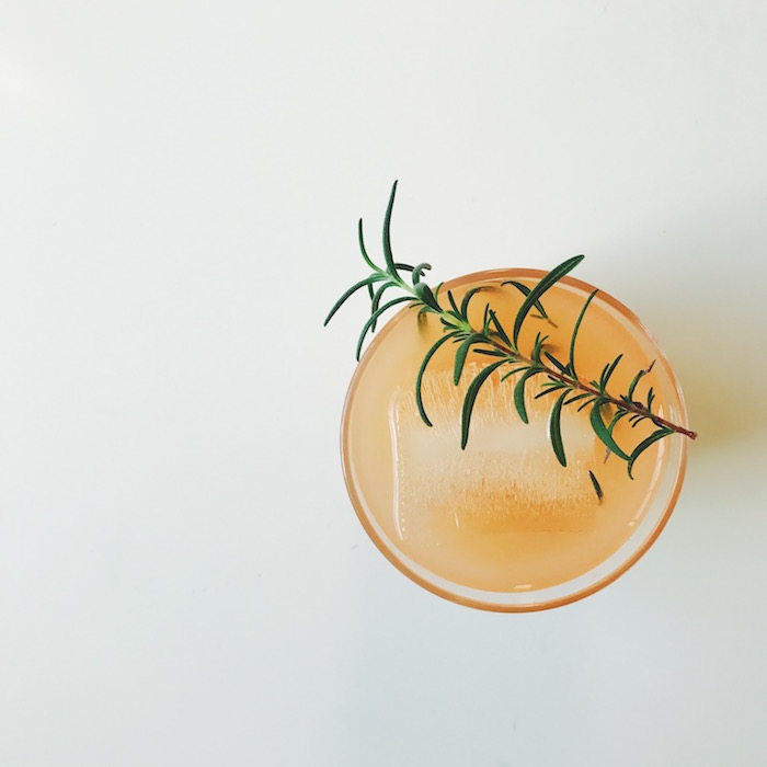 Grapefruit vodka and rosemary cocktail