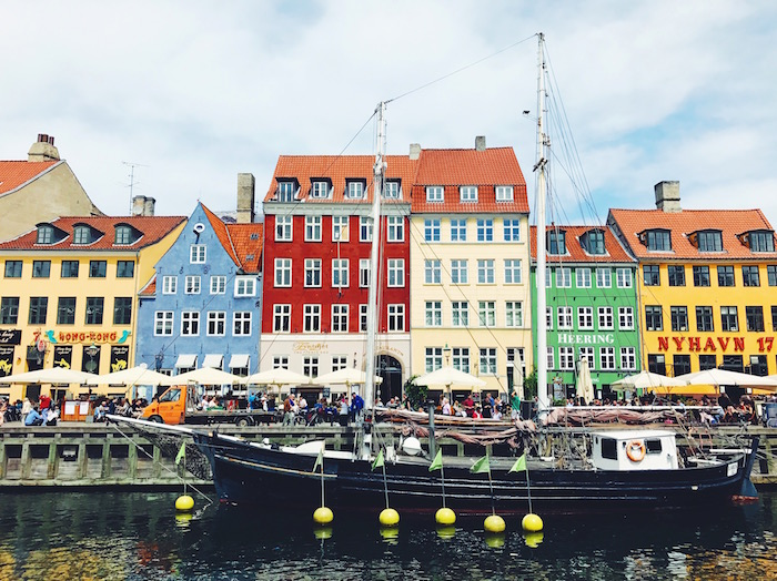 Nyhavn colorful buildings in Copenhagen, Denmark