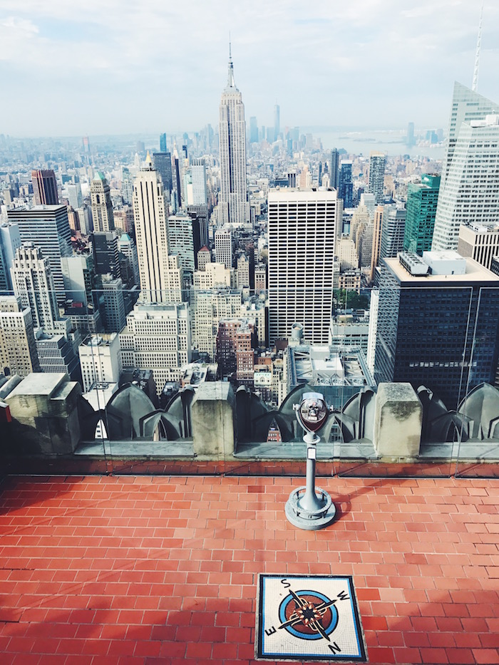 View from Top of the Rock in New York City