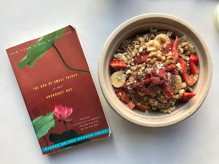 The God of Small Things and Kure acai bowl