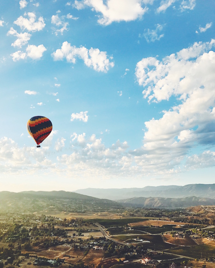California Dreamin' Hot Air Balloon Ride in Temecula, California