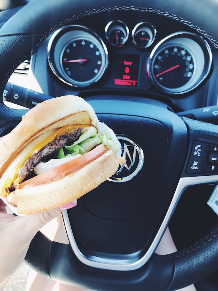In N Out Burger as an essential road trip stop