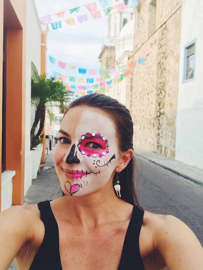 Christine Merrill at Day of the Dead in Tlaquepaque, Mexico