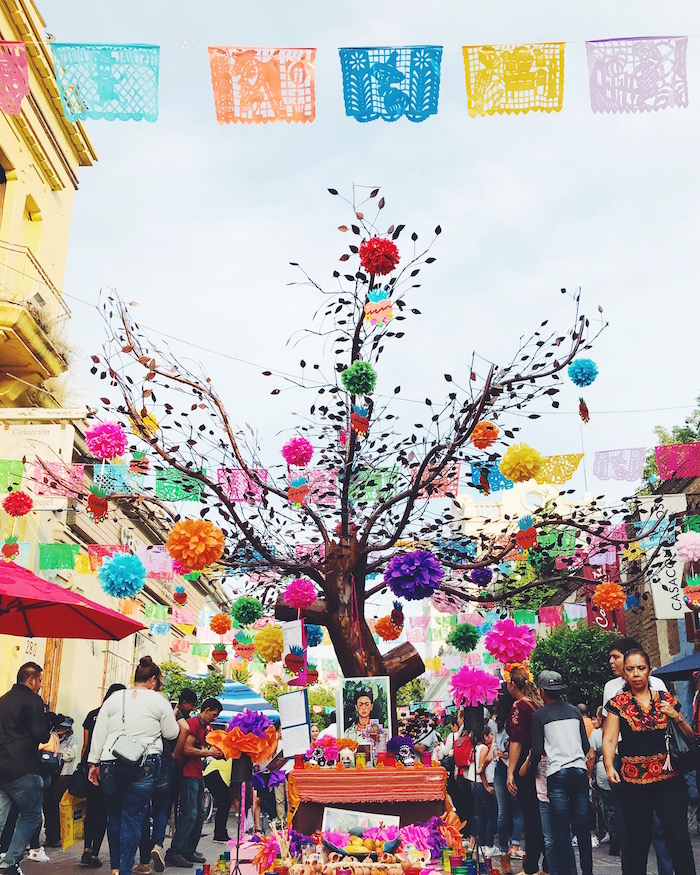 Colorful Day of the Dead festivities in Tlaquepaque, Guadalajara
