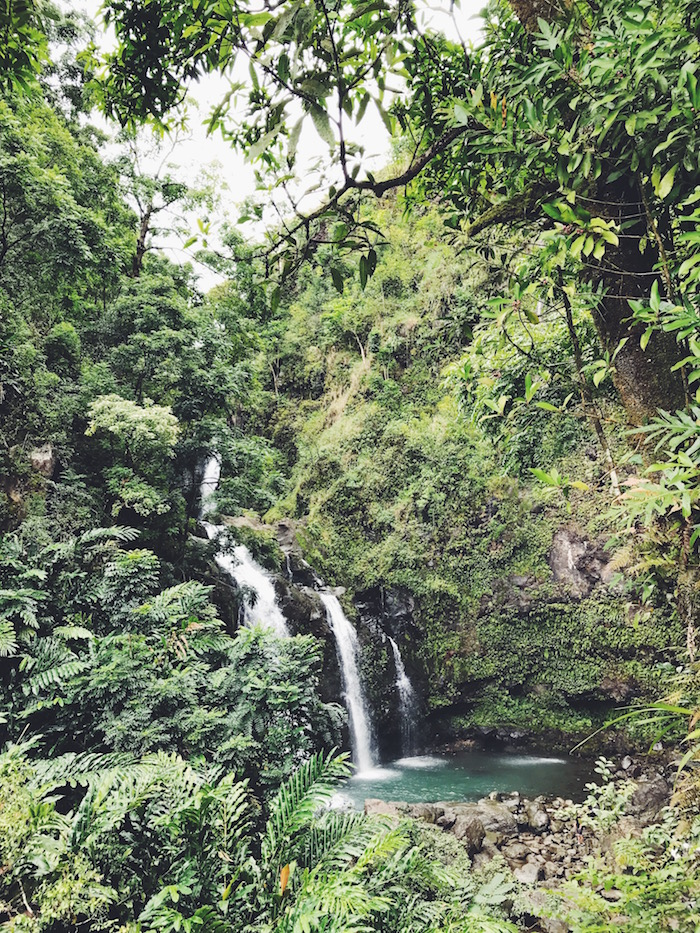Waterfall on the Road to Hana in Maui