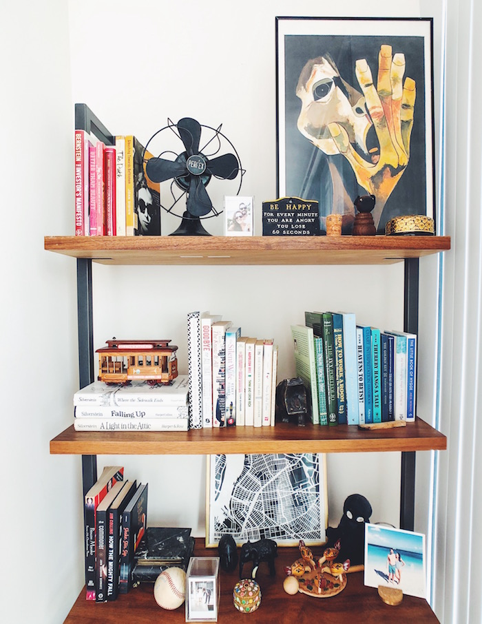 Shelves in Modern apartment in North Park, San Diego