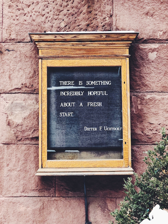 Quote at First Presbyterian in Brooklyn Heights