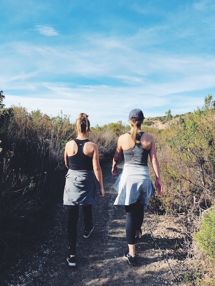 Hiking at Crystal Cove in Orange County, California